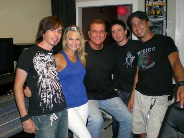 Randy Willis in the studio with Vallejo and Kendall Beard