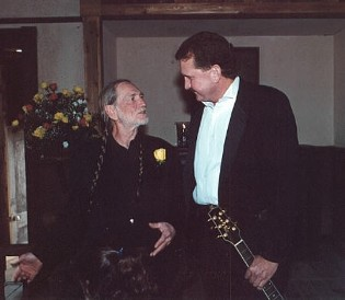 Randy Willis and Willie Nelson in Luck, Texas